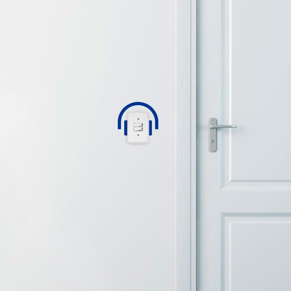Adesivo Decorativo para Interruptor Fone de Ouvido