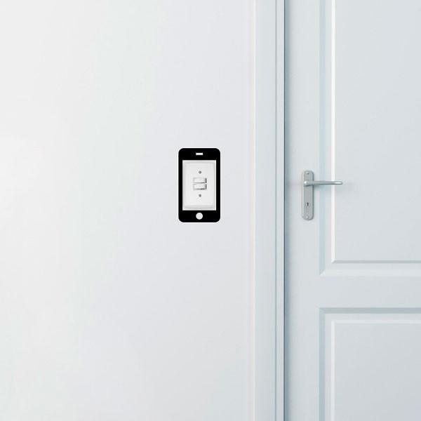 Adesivo de Parede para Interruptor Iphone