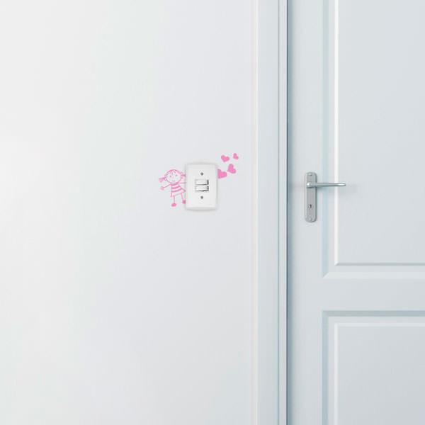 Adesivo de Parede para Interruptor Menina