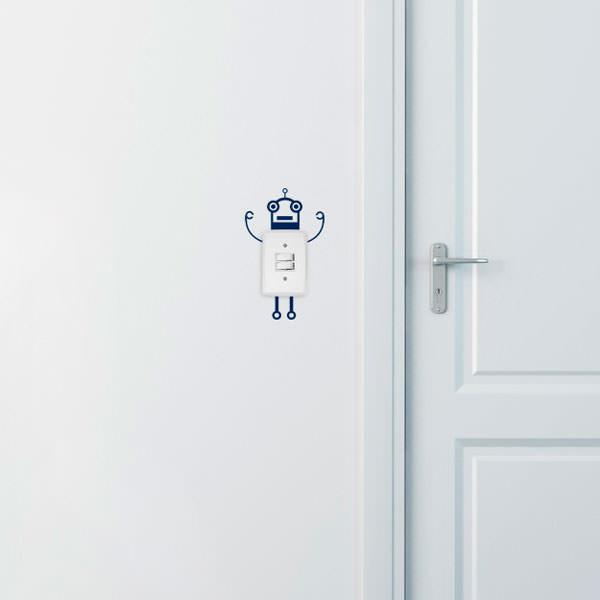 Adesivo Decorativo para Interruptor Robô