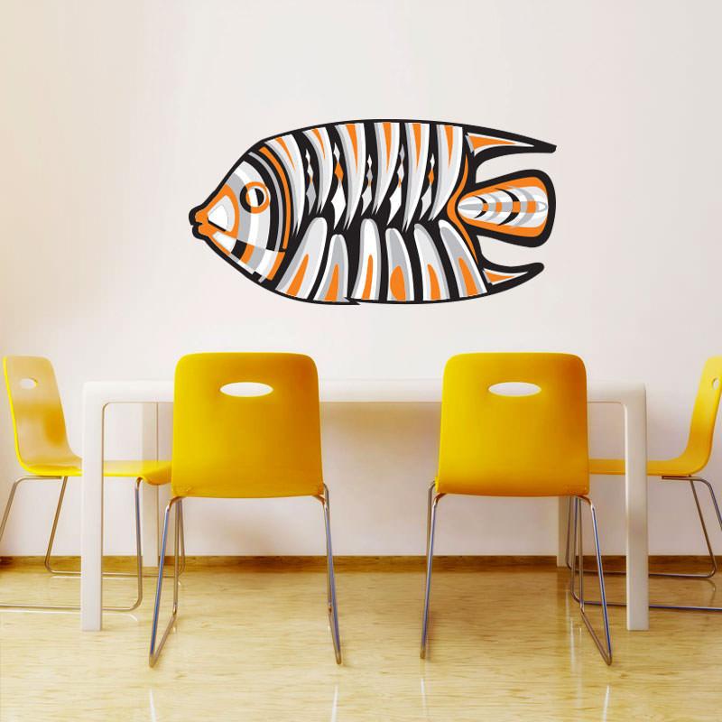 Adesivo Decorativo de Parede Peixe Abstrato