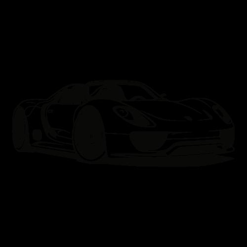 Adesivo de Parede Porsche 918 Spyder