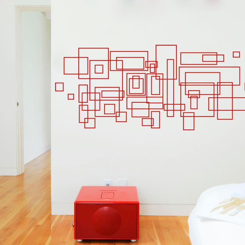 Adesivo de Parede Quadrados Abstratos III