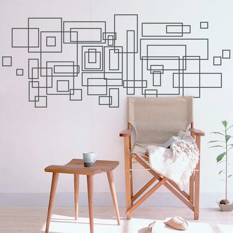 Adesivo Decorativos Quadrados Abstratos III