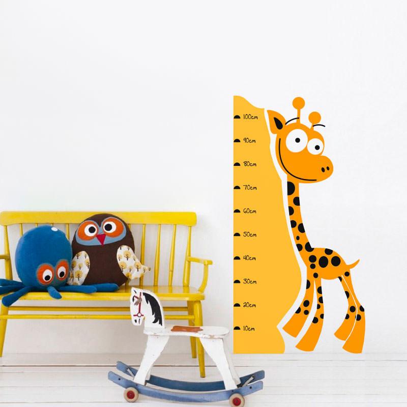 Adesivo Decorativo de Parede Régua Medidora Girafa II
