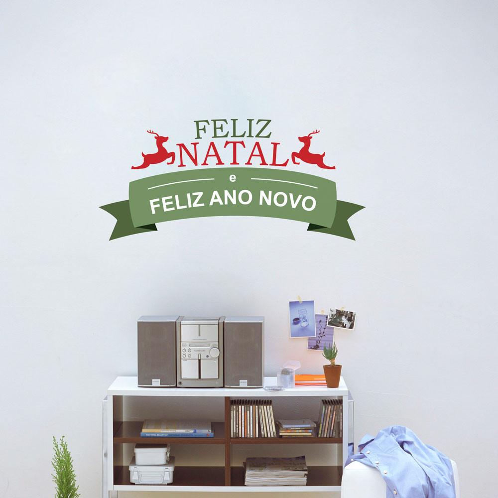 Adesivo Decorativo Renas Feliz Natal