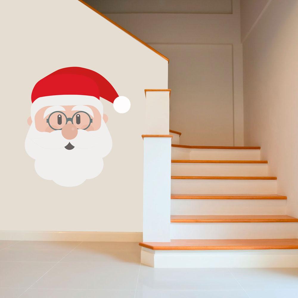 Aparador Moveis ~ Adesivo de Parede Rosto do Papai Noel bemColar Adesivos De Parede