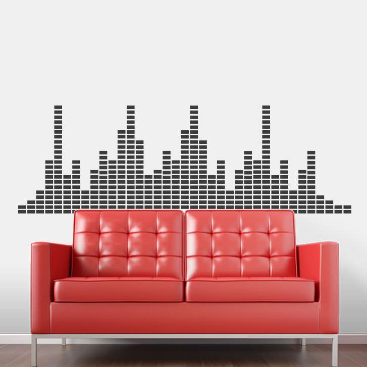 Adesivo de Parede Decorativo Tecno Sound