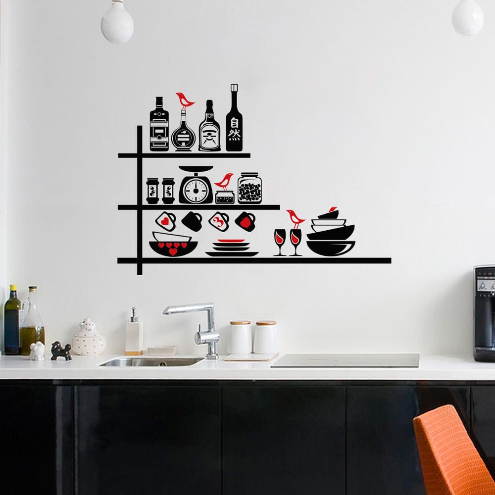 Adesivo Decorativo Utensílios de Cozinha