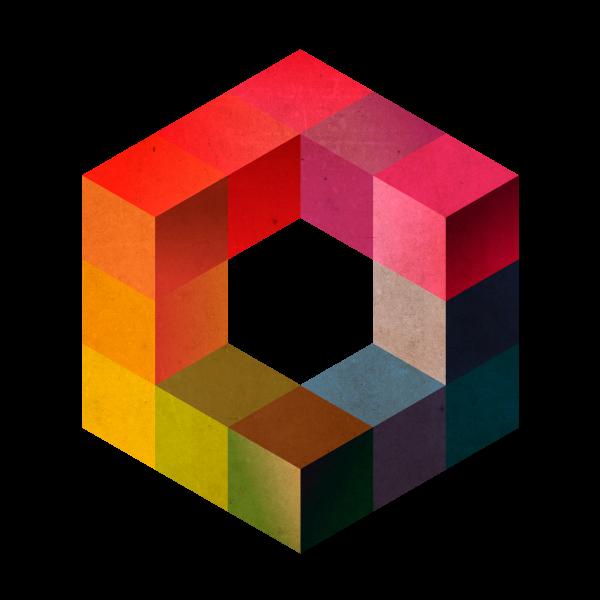 Adesivo de Parede Hexágono 3D