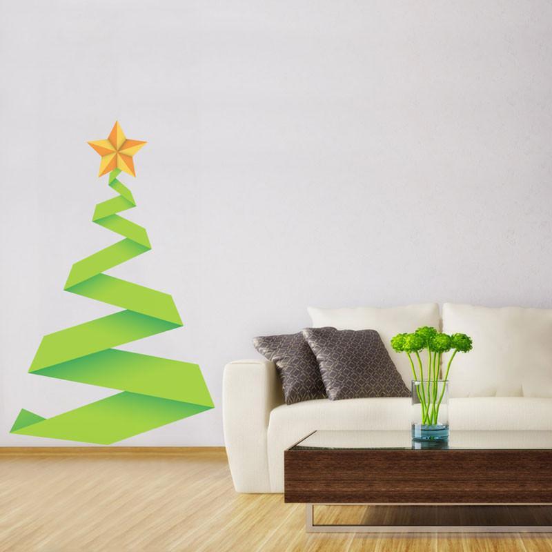 Adesivo Decorativo Árvore de Natal Abstrata