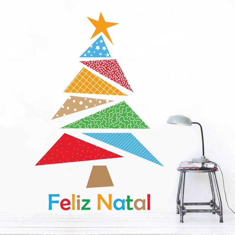 Adesivo Decorativo Árvore de Natal Colorida