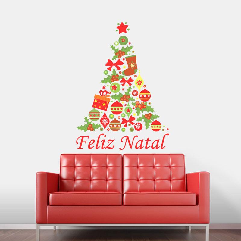 Adesivo Decorativo Árvore de Natal Tradicional