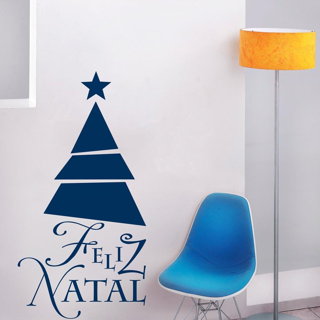 Adesivo de Parede Decorativo Árvore de Natal Geométrica