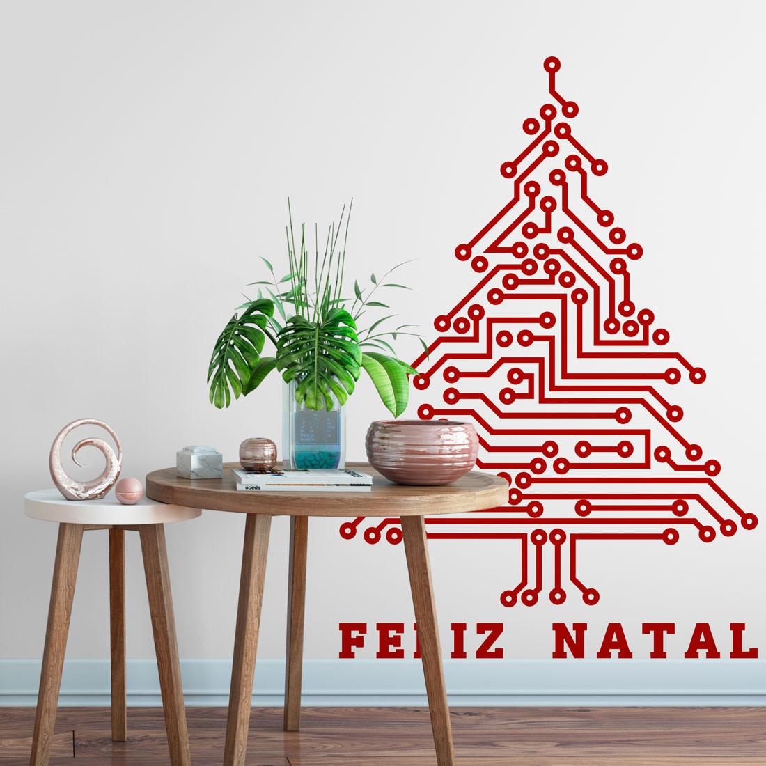 Adesivo de Parede Árvore de Natal Circuito