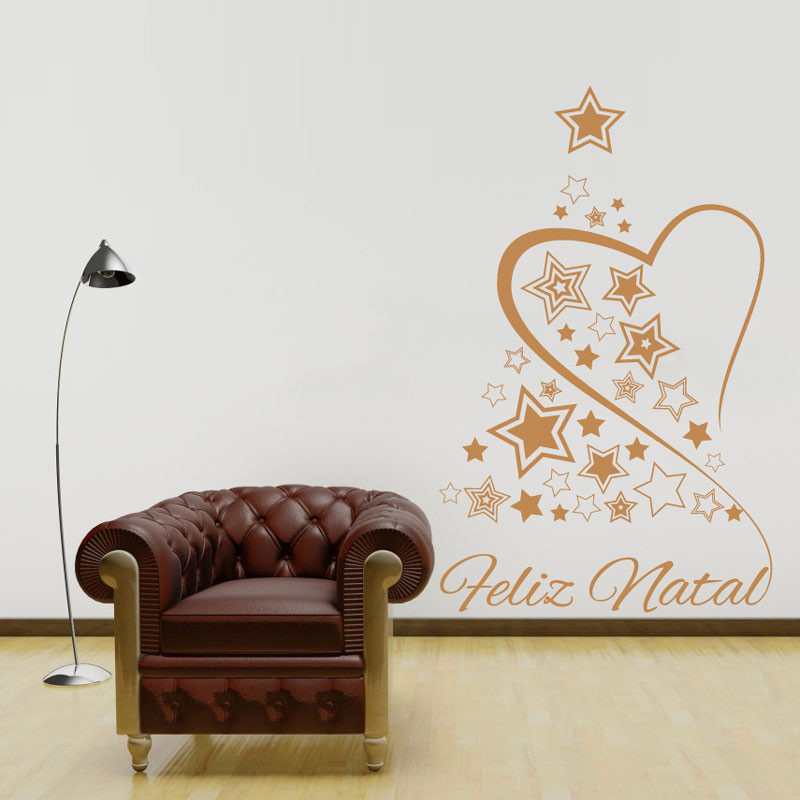 Adesivo Decorativo Árvore de Natal e Amor
