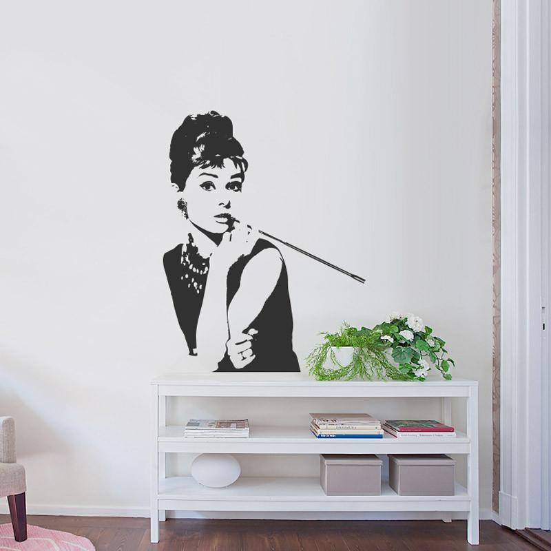 Adesivo de Parede Audrey Hepburn