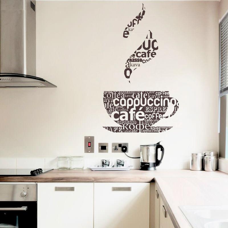 Adesivo Decorativo de Parede Café