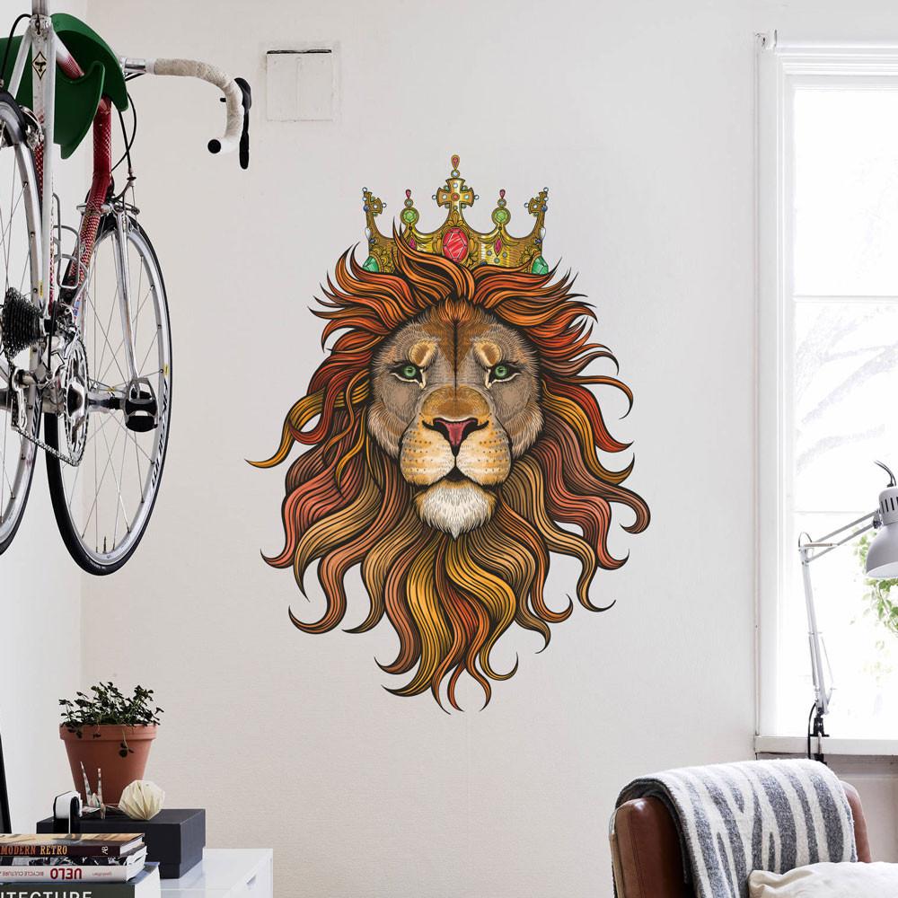 Adesivo de Parede Leão Abstrato