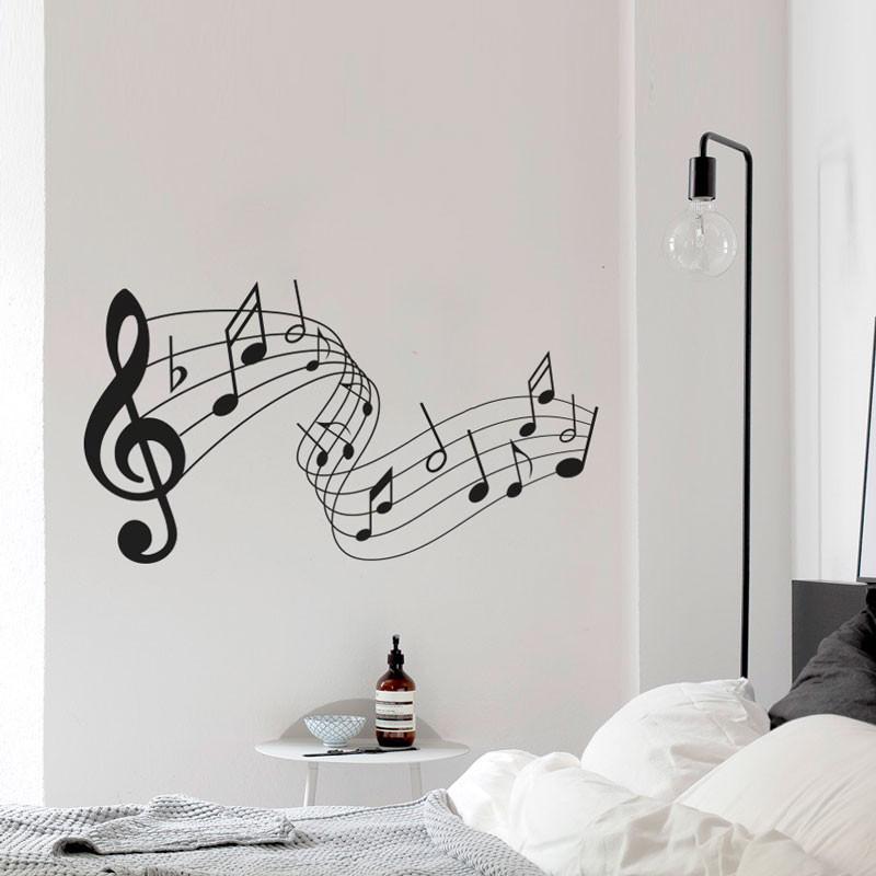 Adesivo Decorativo de Parede Notas Musicais
