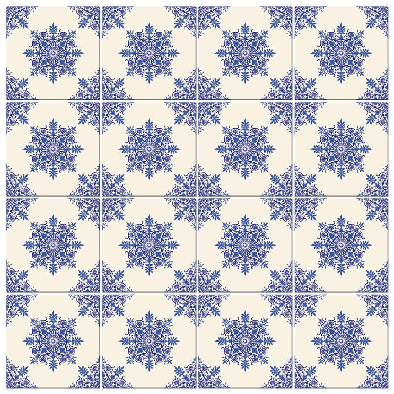 Adesivo de Parede Azulejo Hidraulico
