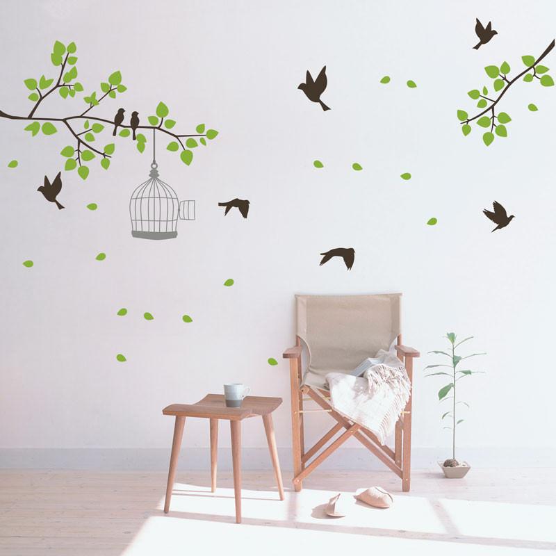 Adesivo Decorativo de Parede Pássaros e Galhos