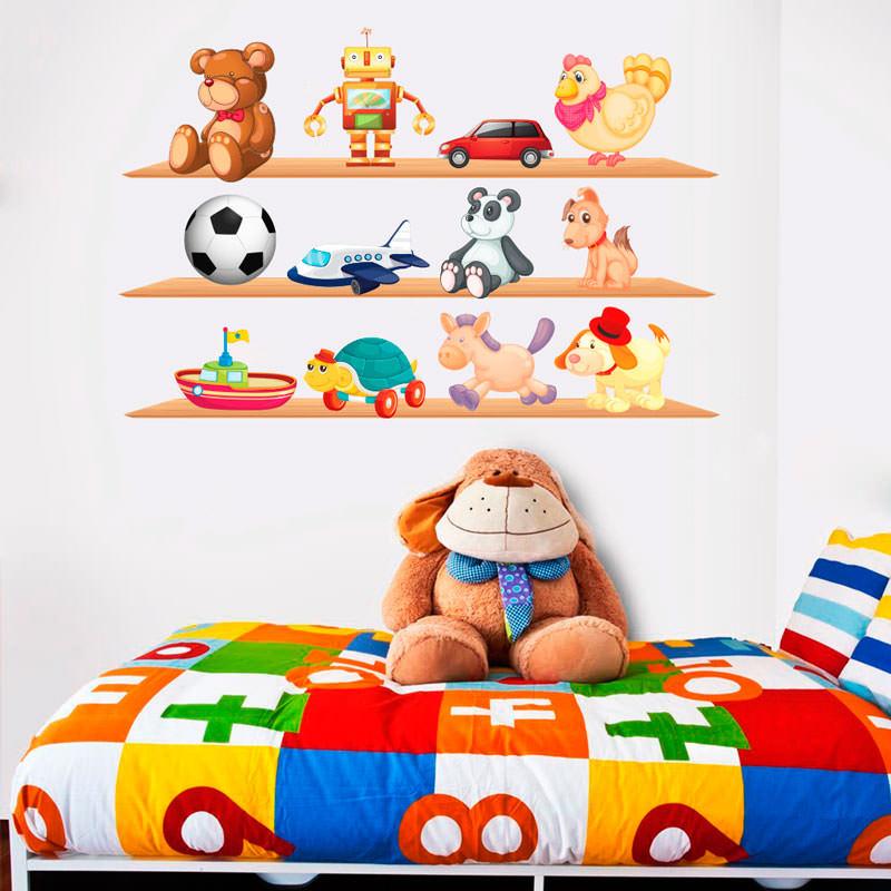 Adesivo Estrela Brinquedos ~ Adesivo de Parede Prateleira de Brinquedos bemColar