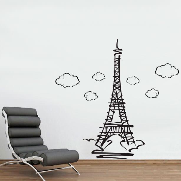 Curso Artesanato Goiania ~ Adesivo de Parede Torre Eiffel bemColar Adesivos De Parede