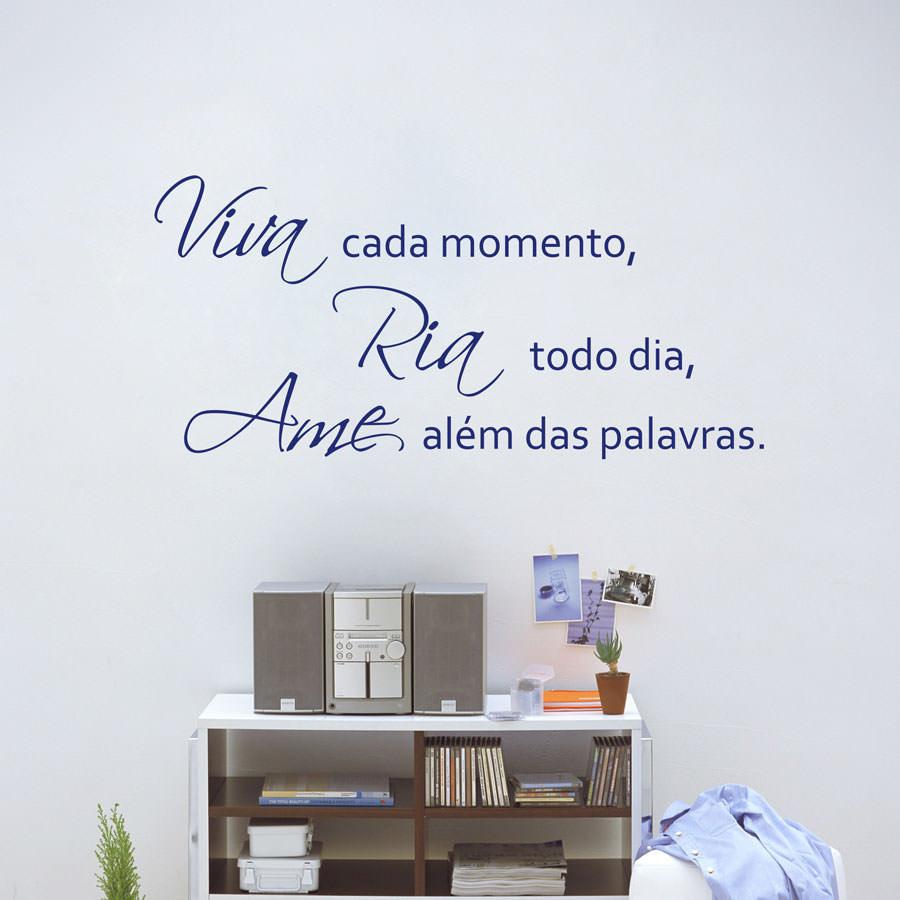 Adesivo Decorativo de Parede Viva, Ria e Ame