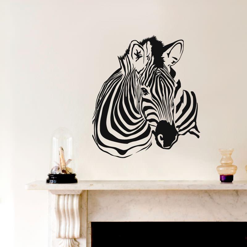 Adesivo Decorativo de Parede Zebra