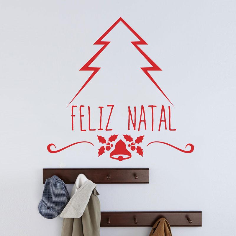 Artesanato Alentejo ~ Adesivo de Parede Feliz Natal bemColar Adesivos De Parede
