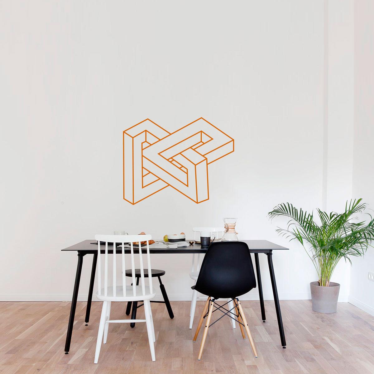 Adesivo Decorativo Escultura Abstrata