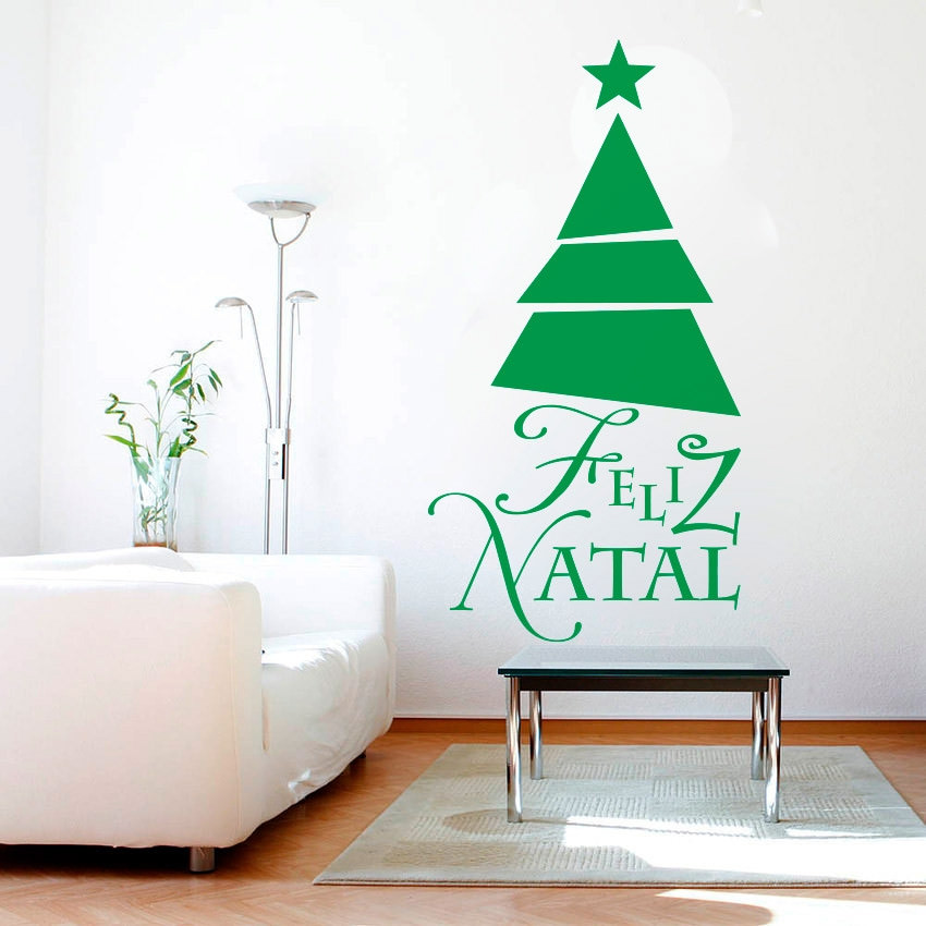 Adesivo Decorativo Árvore de Natal Geométrica