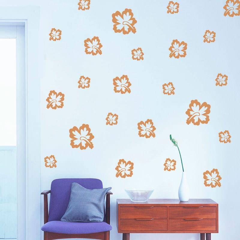 Armario Ikea Pax Montaje ~ Adesivo de Parede Kit de Flores Hibisco bemColar Adesivos De Parede