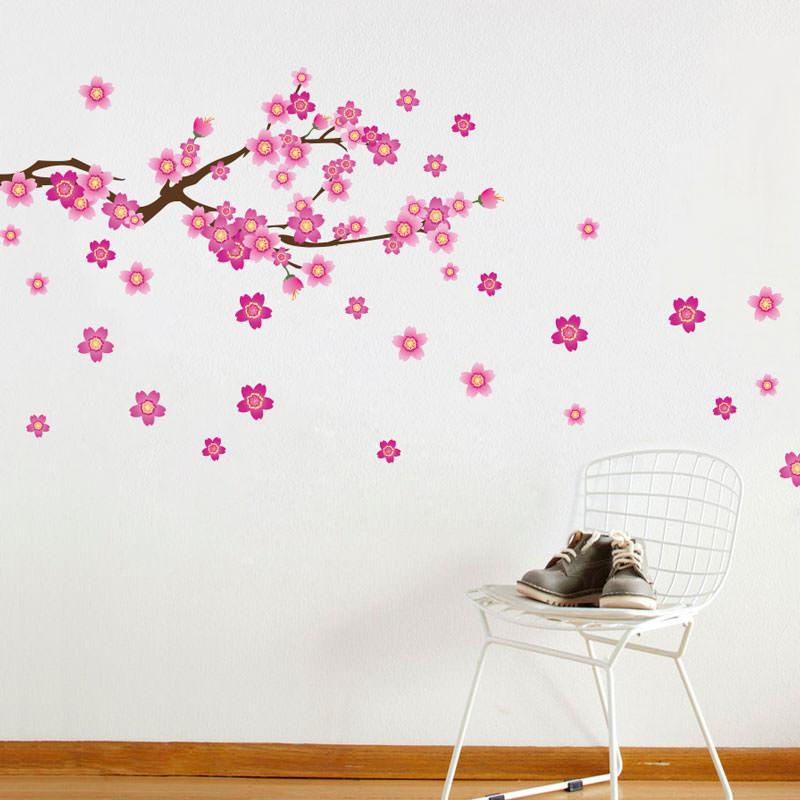 Adesivo Para Furo De Orelha ~ Adesivo de Parede Galho de Flores bemColar Adesivos De