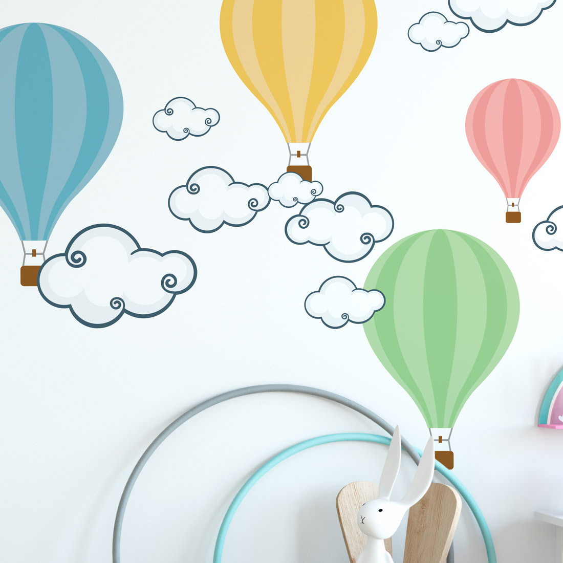 Adesivo de Parede Balões Coloridos - Pastéis
