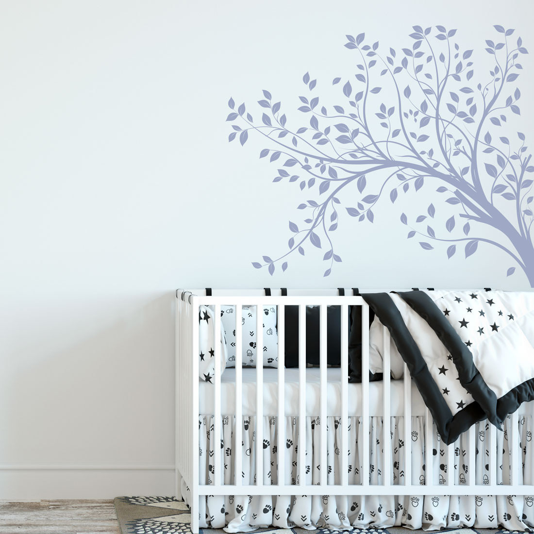 Adesivo Decorativo de Parede Infantil Galho Folhas Natureza
