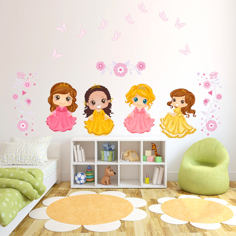Adesivo de Parede Infantil Princesas