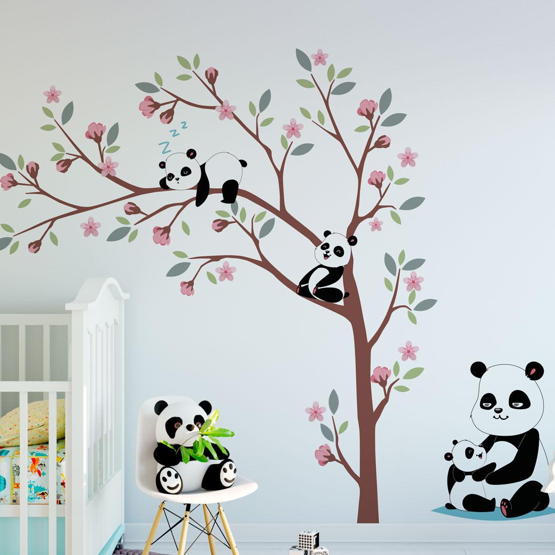 Adesivo de Parede Mamãe Panda