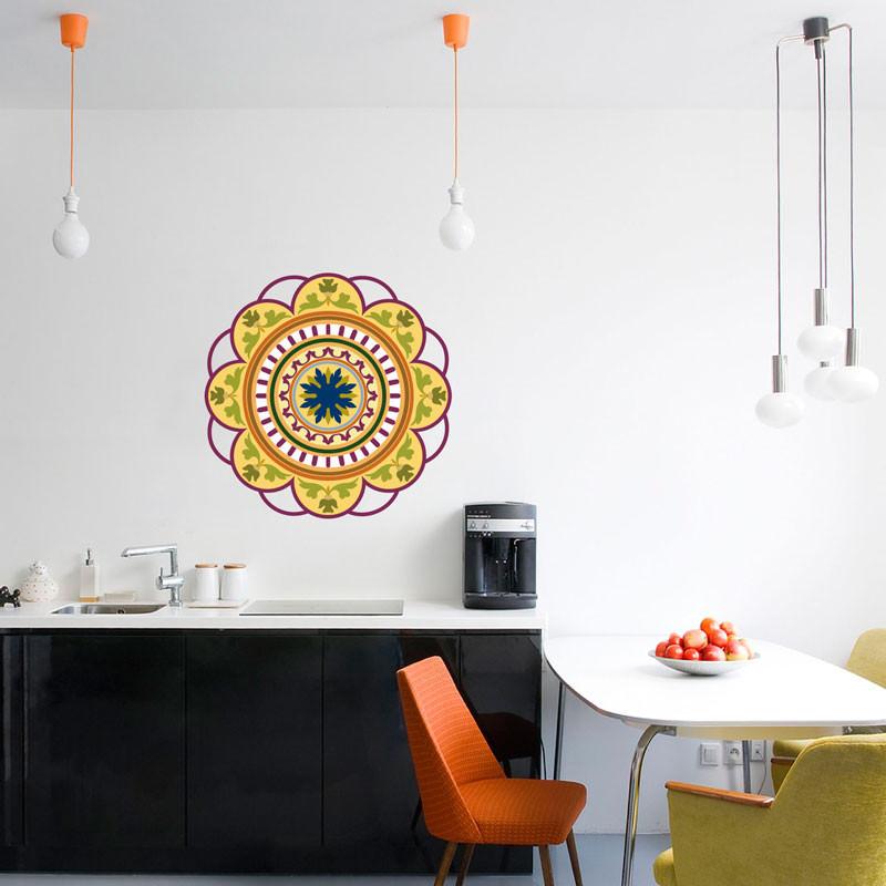 Adesivo Decorativo Mandala Colorida II