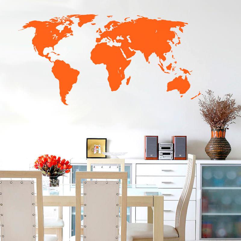 Adesivo de Parede Decorativo Mapa Mundi Inteiriço