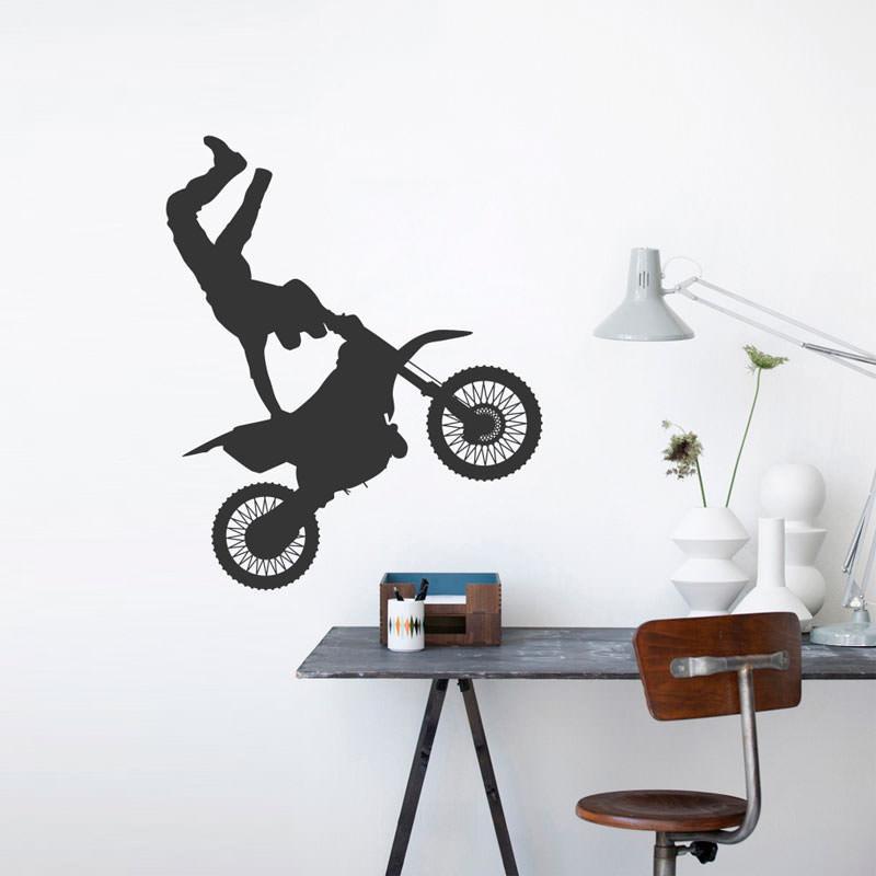 Adesivo de Parede Decorativo Motocross