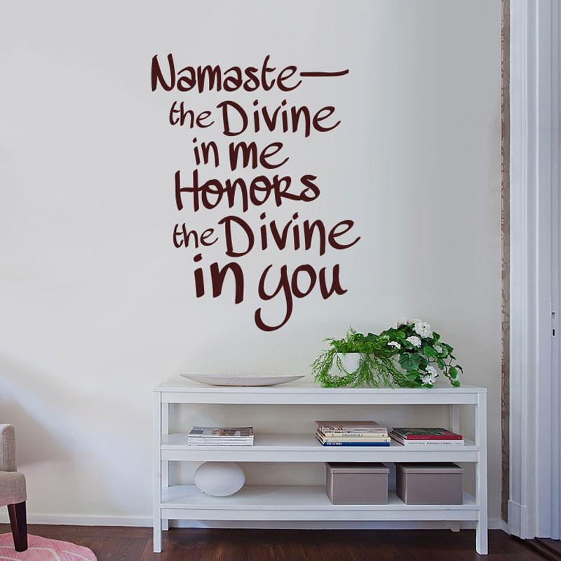 Adesivo Decorativo Namaste
