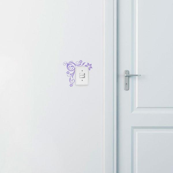 Adesivo Decorativo para Interruptor Floral