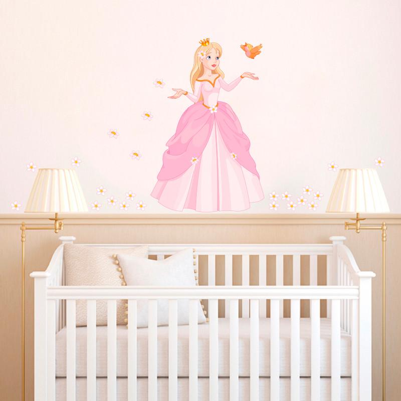Adesivo de Parede Infantil Princesa das Flores