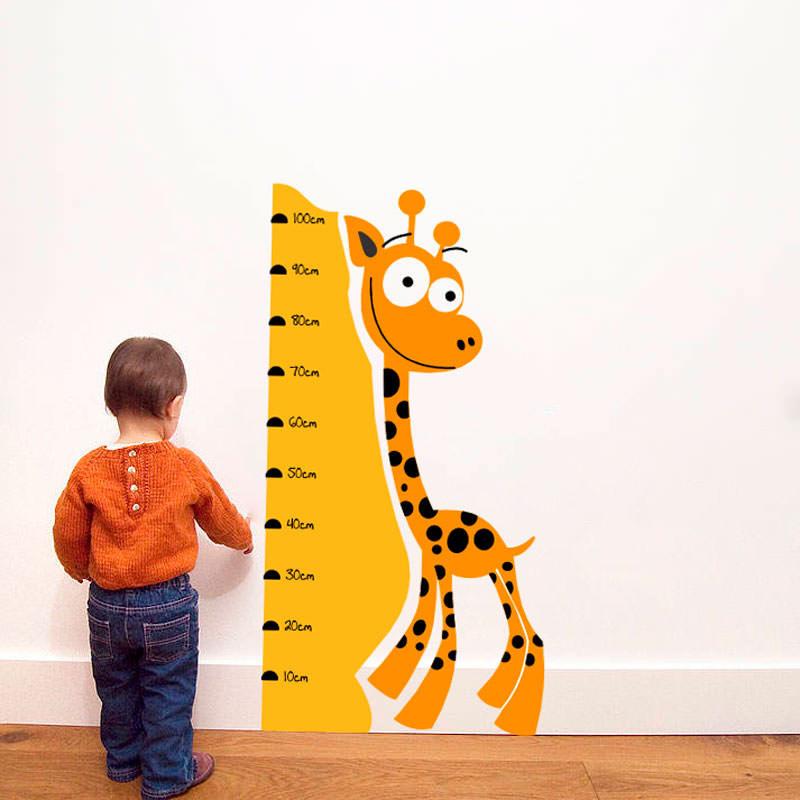 Adesivo de Parede Régua Medidora Girafa II