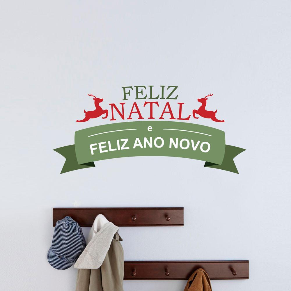 Adesivo de Parede Renas Feliz Natal