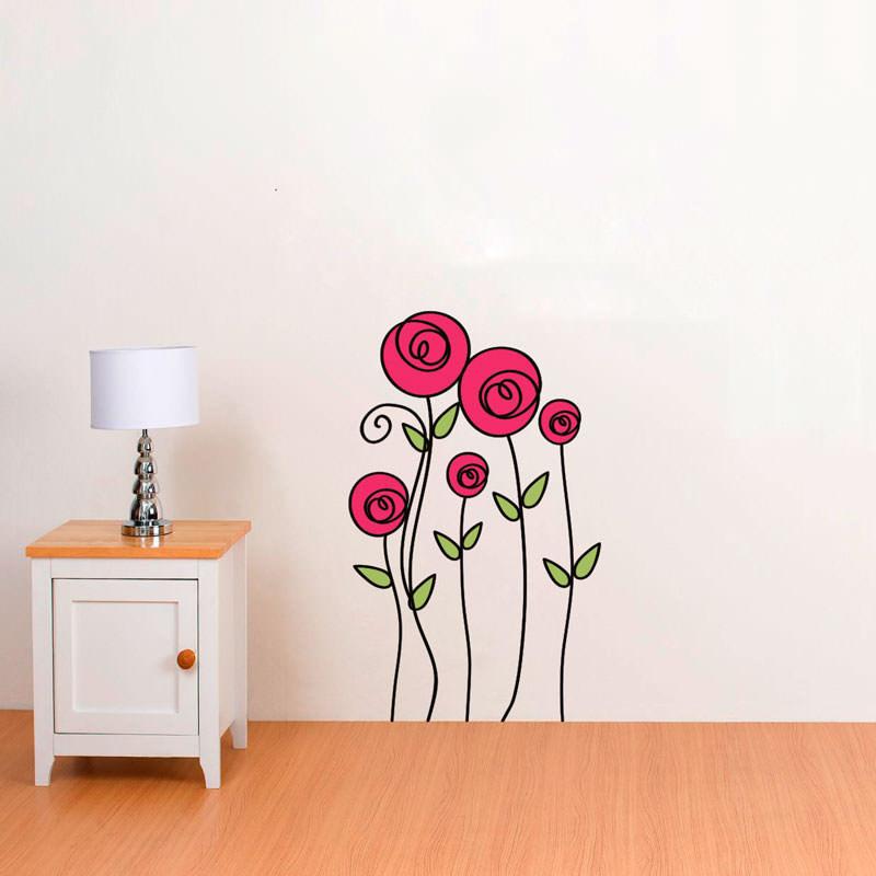 Adesivo Decorativo de Parede Rosas
