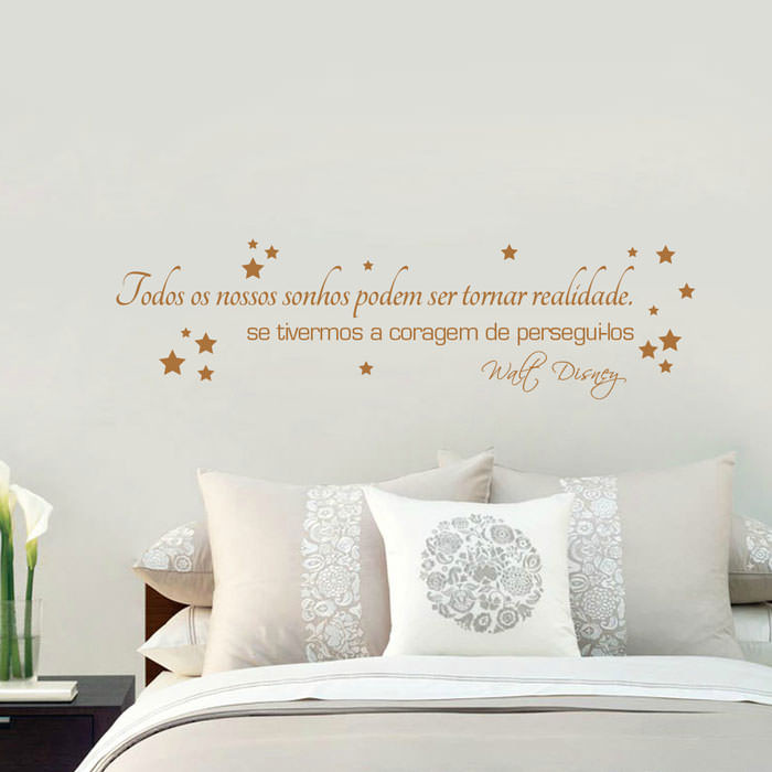 Adesivo Decorativo de Parede Todos os Nossos Sonhos..