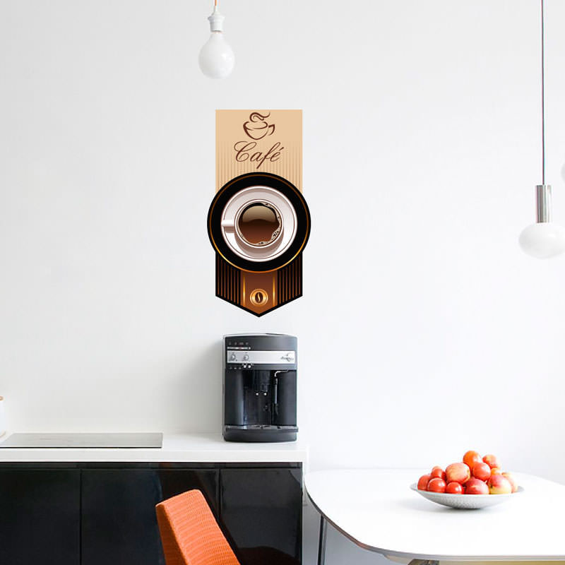 Adesivo Decorativo de Parede Xícara de Café
